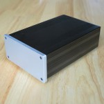 Solid Non-Magnetic Aluminum Chassis (68x145x223mm) and 8mm silver face plate