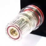 Silver Plated Pure OFC 5-Way Binding Post (red)