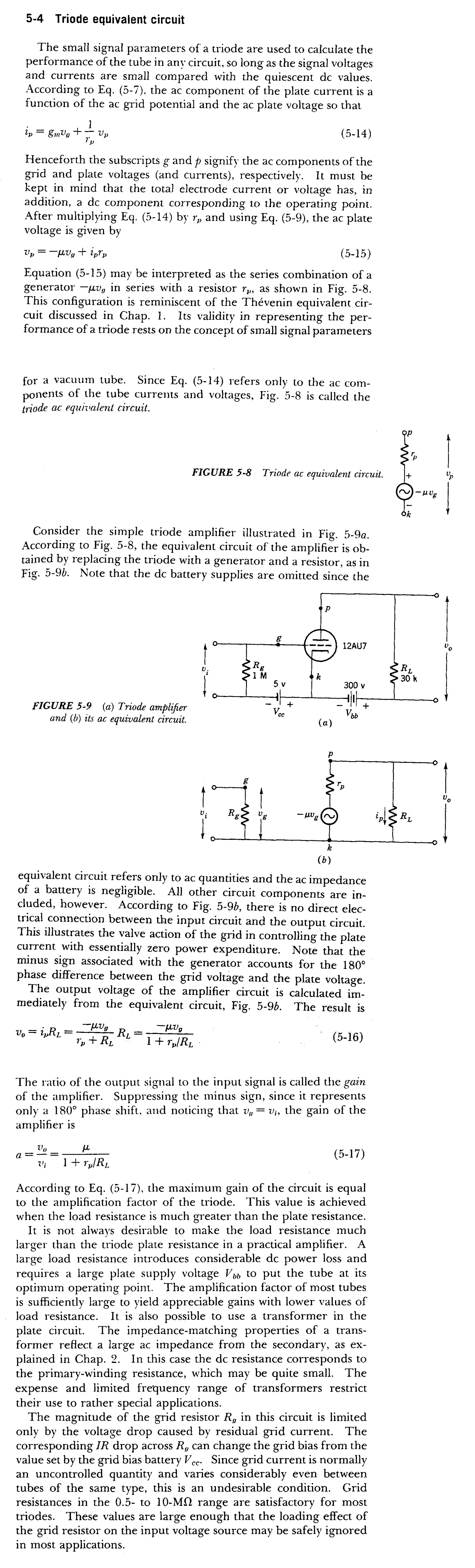 January 2000 Page 5 Diy Hifi Supply Find The Thvenin Equivalent With Respect To 1nf Capacitor Triodes Section 4 Triode Circuit